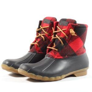 Sperry Saltwater Buffalo Womens Winter Duck Boots